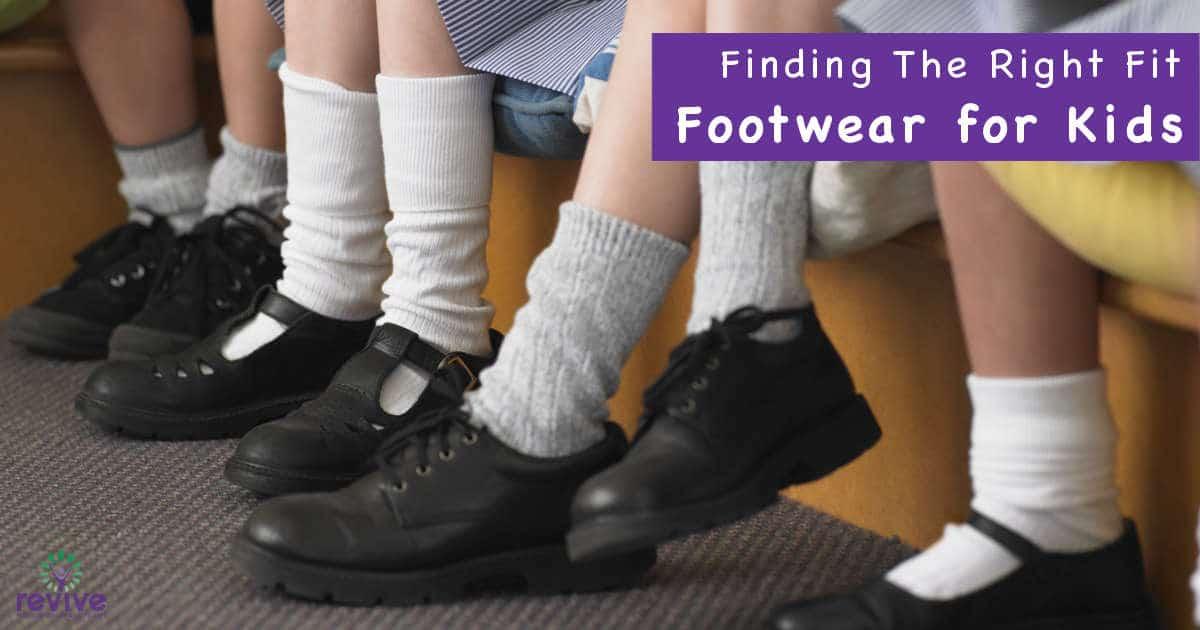 Children wearing school shoes
