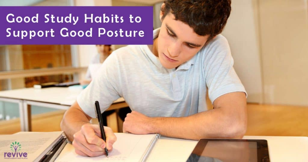 Good Study Habits to Support Good Posture