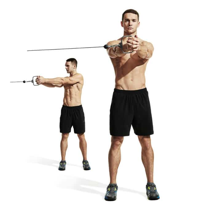 Standing Band/Cable Anti-Rotation Chop - Anti-rotational exercises - Revive Physiotherapy and Pilates