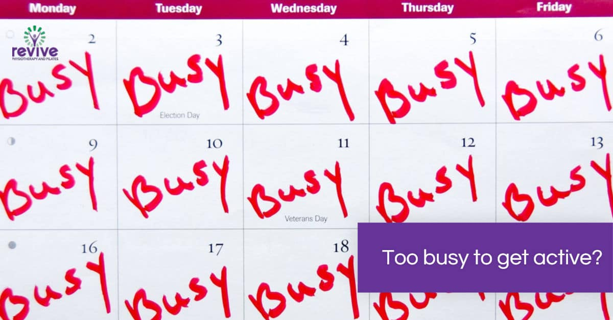 How to get active when you are busy